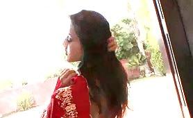 Sunny Leone In Red Sari