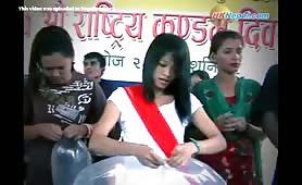 Nepali Girls Blowing Up Condom