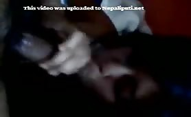 Nepali blowjob with cream on his dick