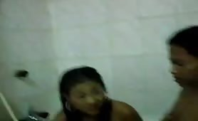 Nude bathr with a group of Desi Teens