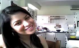 Hot babe on webcam