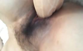 Big dildo in her ass
