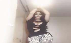 Busty Pakistani dancing