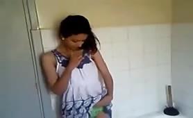 Flashing her sweet tits