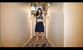 Hot Desi teen teasing on the hallway