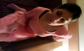 Desi wife undressed for the camera