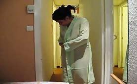 Indian MILF wearing a night dress