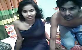Indian couple fucking on live webcam for free