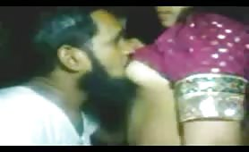 Pakistani couple kissing sensually