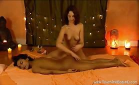 Lesbian sensually massage