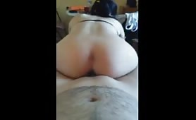 Riding his hard cock hard until he came