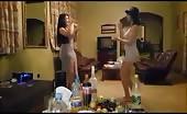 Two nepali college girl dancing sensually