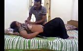 Indian aunty kissing sensually with her boyfriend