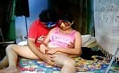 Sweet babe masturbates with her boyfriend