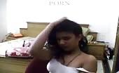 Desi teen masturbates on webcam
